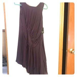 Vera Wang dress, deep purple, pleated chiffon. NWT